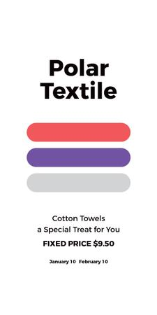 Textile towels offer colorful lines Graphic Design Template