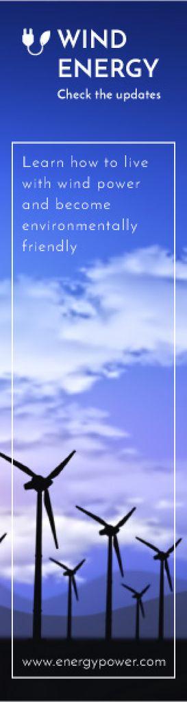 Wind energy banner — Crea un design