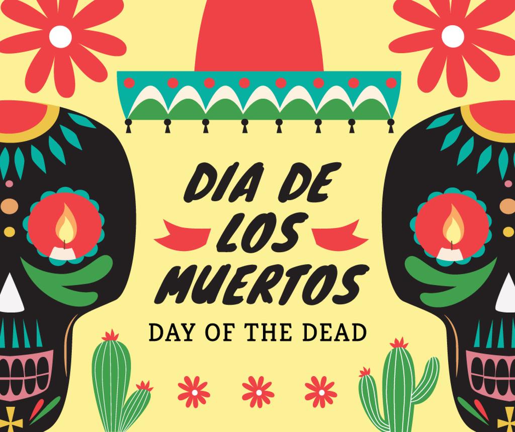 Dia de Los Muertos greeting skulls — Створити дизайн
