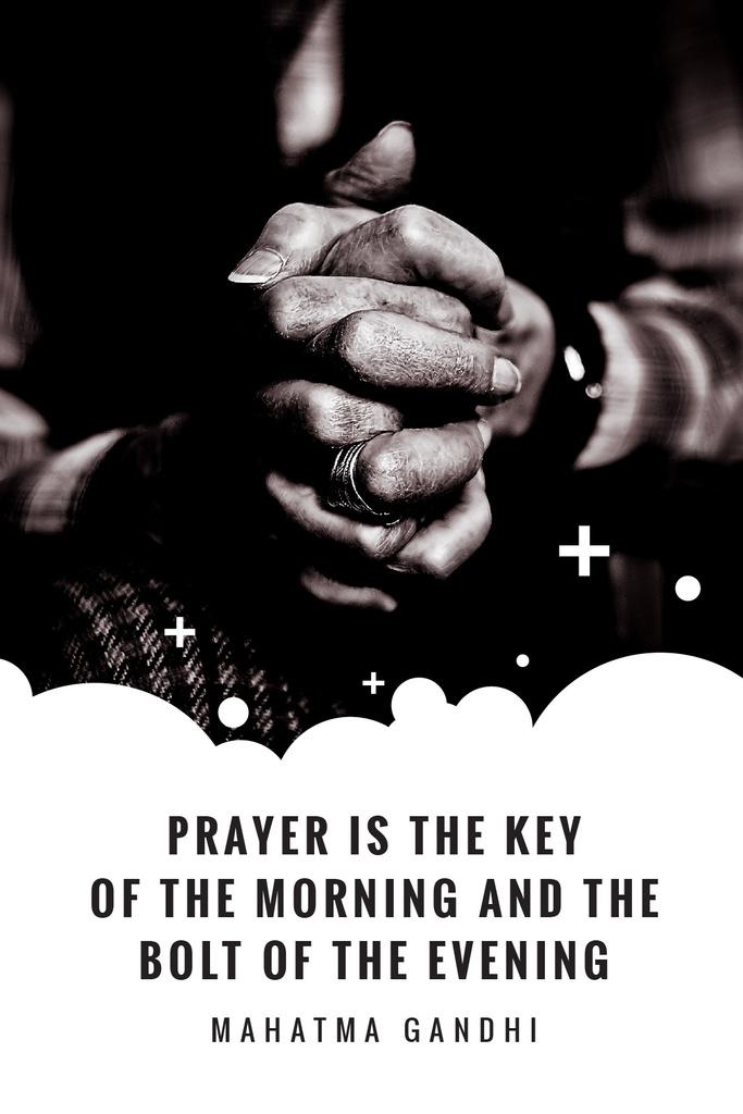 Faith Quote Hands Clasped in Prayer — Maak een ontwerp