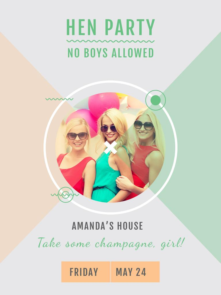 Hen party for girls in Amanda's House — Створити дизайн