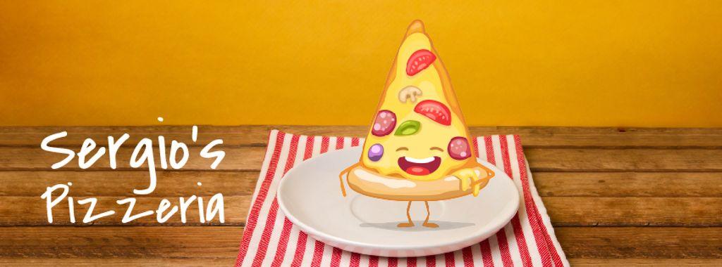 Delicious Italian Pizza Piece   Facebook Video Cover Template — Create a Design