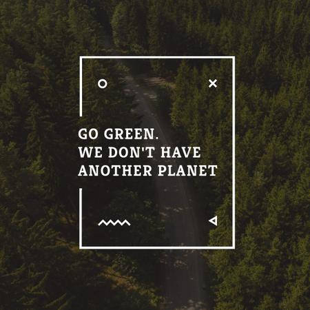 Template di design Citation about Green Planet Instagram