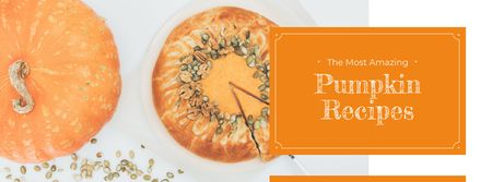 Baked pumpkin pie Facebook cover Modelo de Design