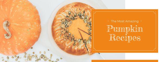 Plantilla de diseño de Baked pumpkin pie Facebook cover