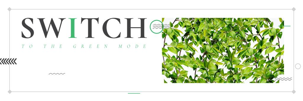 Switch to the green mode poster — Створити дизайн