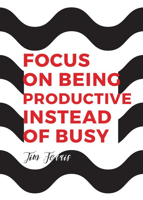 Plantilla de diseño de Productivity Quote on Waves in Black and White Flayer