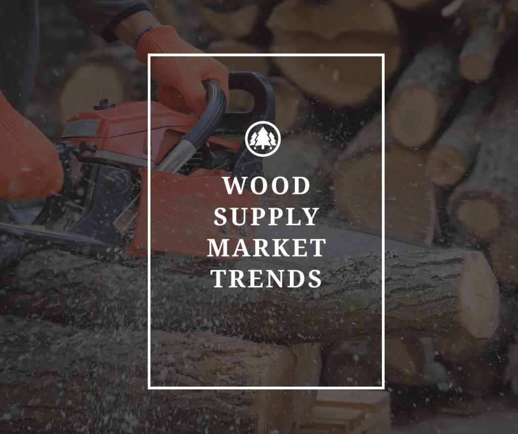 Wood supply market trends poster — Створити дизайн