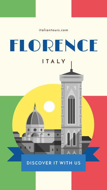 Ontwerpsjabloon van Instagram Story van Florence travelling spots