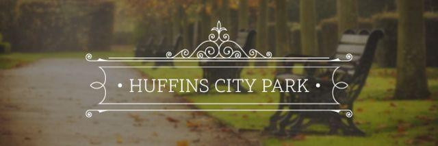Plantilla de diseño de City park Invitation Email header