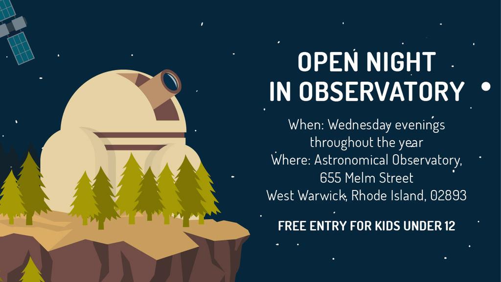 Open night in Observatory — Создать дизайн