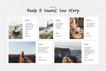 Template di design Happy Newlyweds in Nature Storyboard