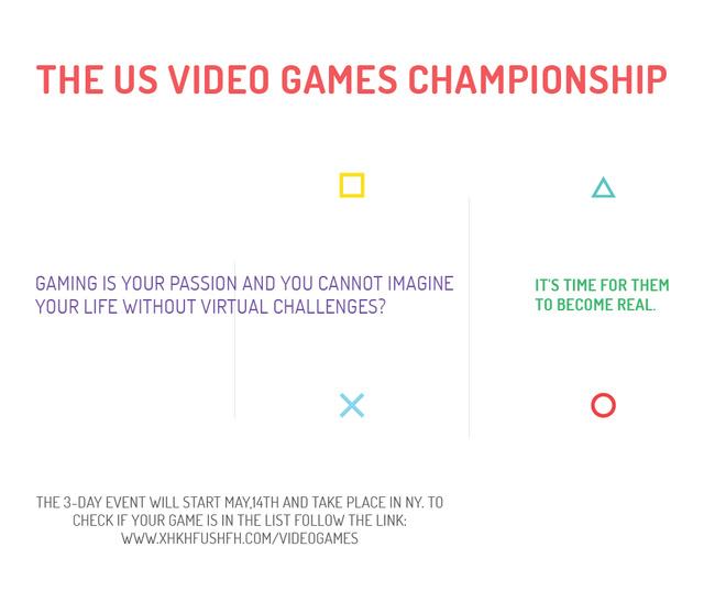 Plantilla de diseño de Video Games Championship announcement Facebook