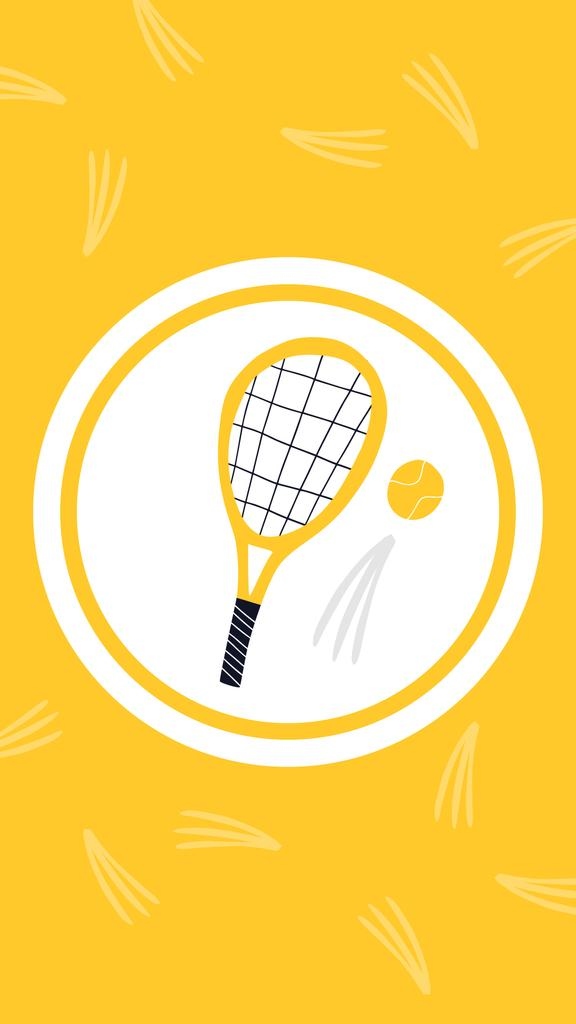 Tennis Game illustrations in circles — Modelo de projeto