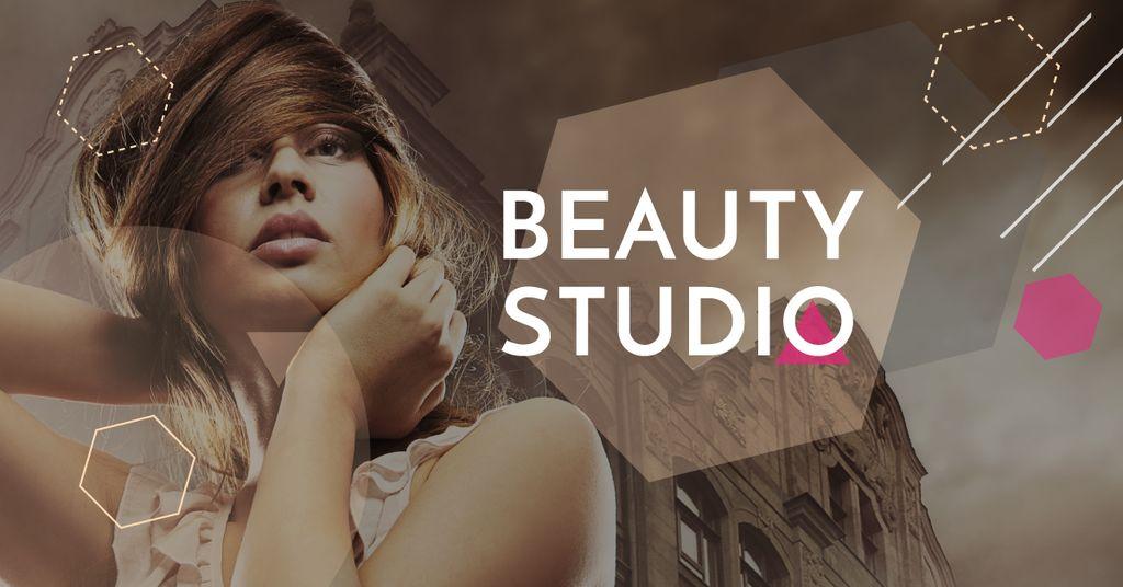 Beauty Studio promotion with Attractive Woman — Створити дизайн