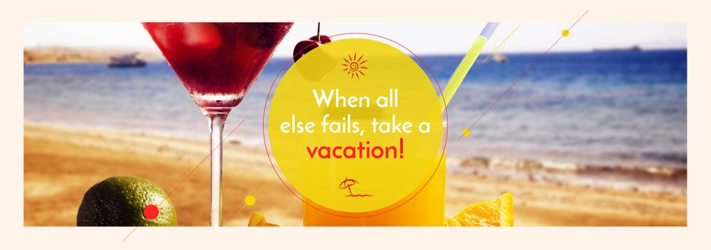 Vacation Offer Cocktail at the Beach — Створити дизайн