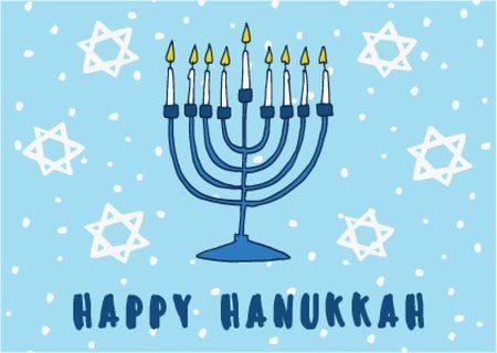 Plantilla de diseño de Happy Hanukkah greeting card  Card