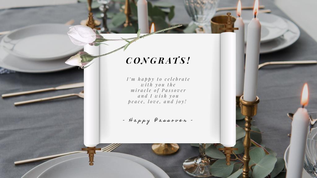 Passover festive dinner — Create a Design