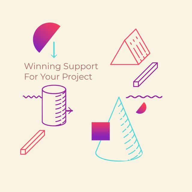 Plantilla de diseño de Moving geometric figures Animated Post