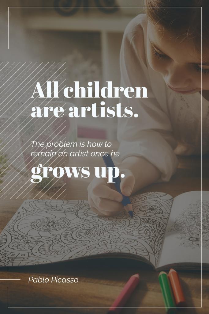 Creative kid drawing — Modelo de projeto