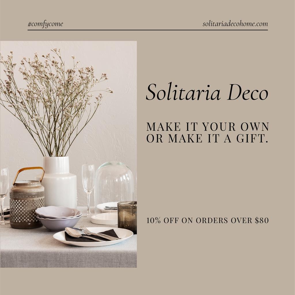 Ontwerpsjabloon van Instagram van Decor items Special Offer