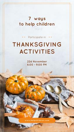 Template di design Thanksgiving Activities Ideas Pumpkins for Decoration Instagram Story
