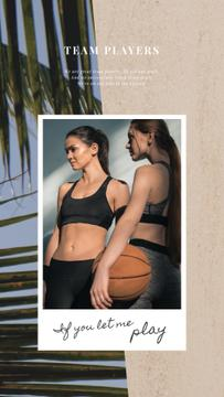 Sports Inspiration Women Playing Basketball