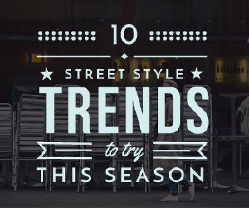 Street style trends poster — Crea un design
