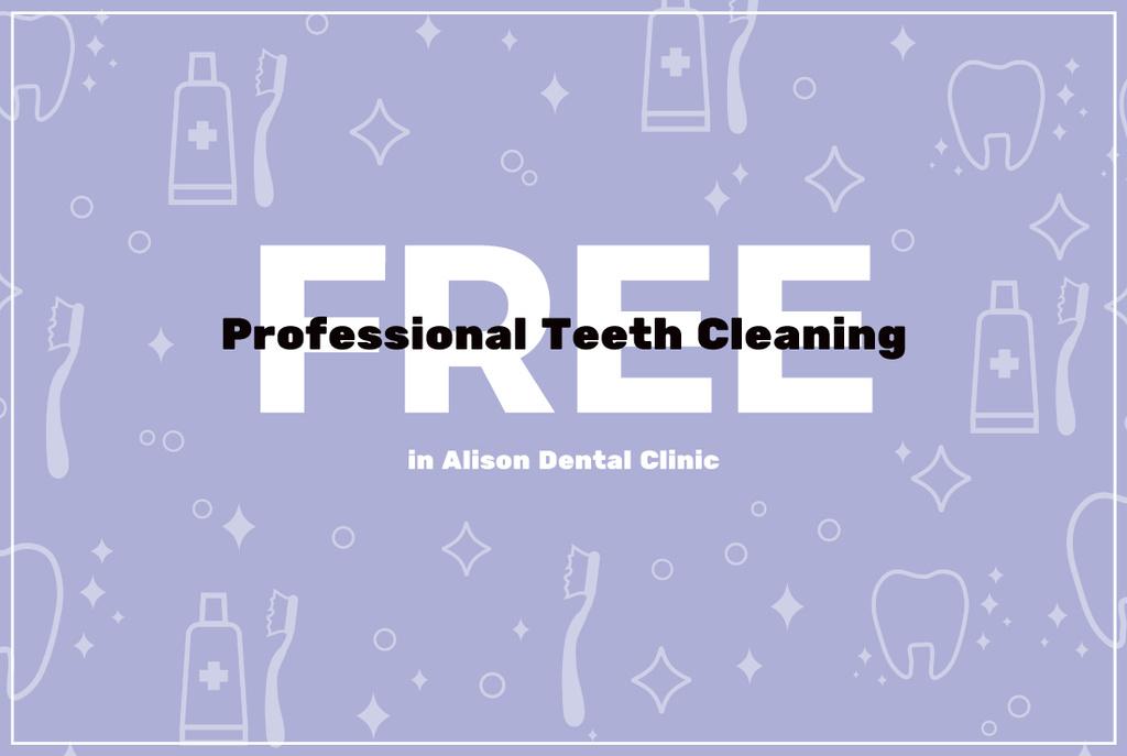 Dental Clinic Advertisement Poster Gift Certificate Template - Dental gift certificate template