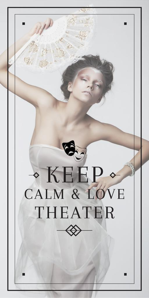 Theater Quote Woman Performing in White — Modelo de projeto
