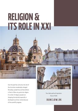 Religion role course with Church facade