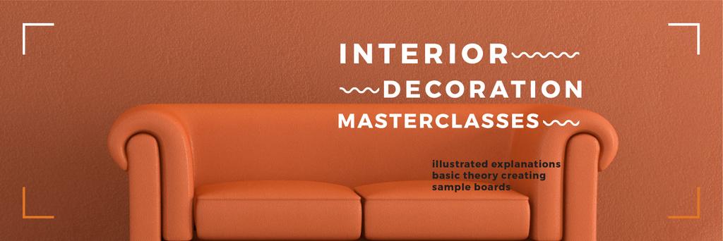 Interior Decoration Event Announcement Sofa in Red - Vytvořte návrh