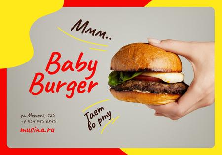 Plantilla de diseño de Special Offer with tiny Burger VK Universal Post