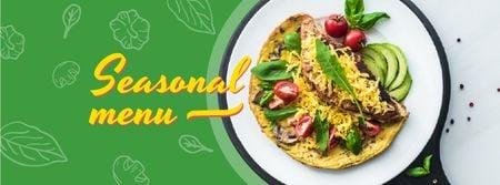 Tortilla dish with Vegetables Facebook cover Modelo de Design