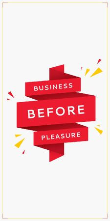 Modèle de visuel Business Quote on Red Ribbon - Graphic
