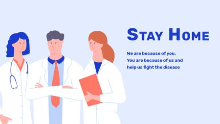 Plantilla de diseño de #Stayhome Coronavirus awareness with Doctors team Full HD video