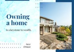 Real Estate Ad with Modern Residential House