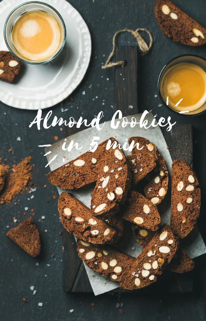 Almond Cookies with Coffee IGTV Cover – шаблон для дизайну