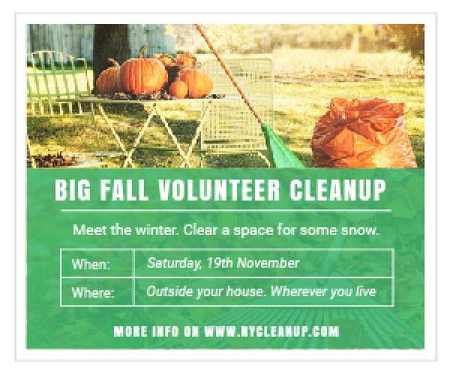 Template di design Big fall volunteer cleanup Medium Rectangle