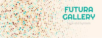 Art Gallery Ad Colorful Dots in Circles | Facebook Cover Template