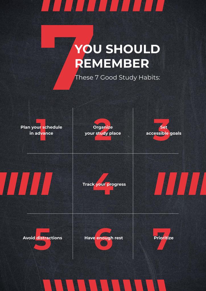 Red numbers on blackboard Poster – шаблон для дизайну