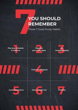 Red numbers on blackboard Poster Design Template