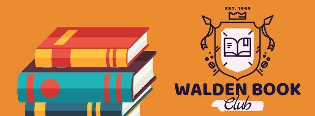 Rising pile of books Facebook Video cover Modelo de Design