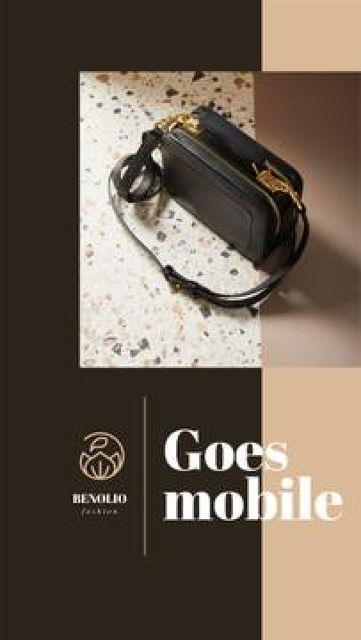 Template di design Online Accessories store ad Mobile Presentation