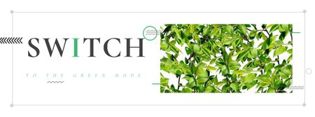 Switch to the green mode Eco concept Facebook cover Tasarım Şablonu