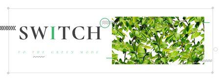 Designvorlage Switch to the green mode Eco concept für Facebook cover