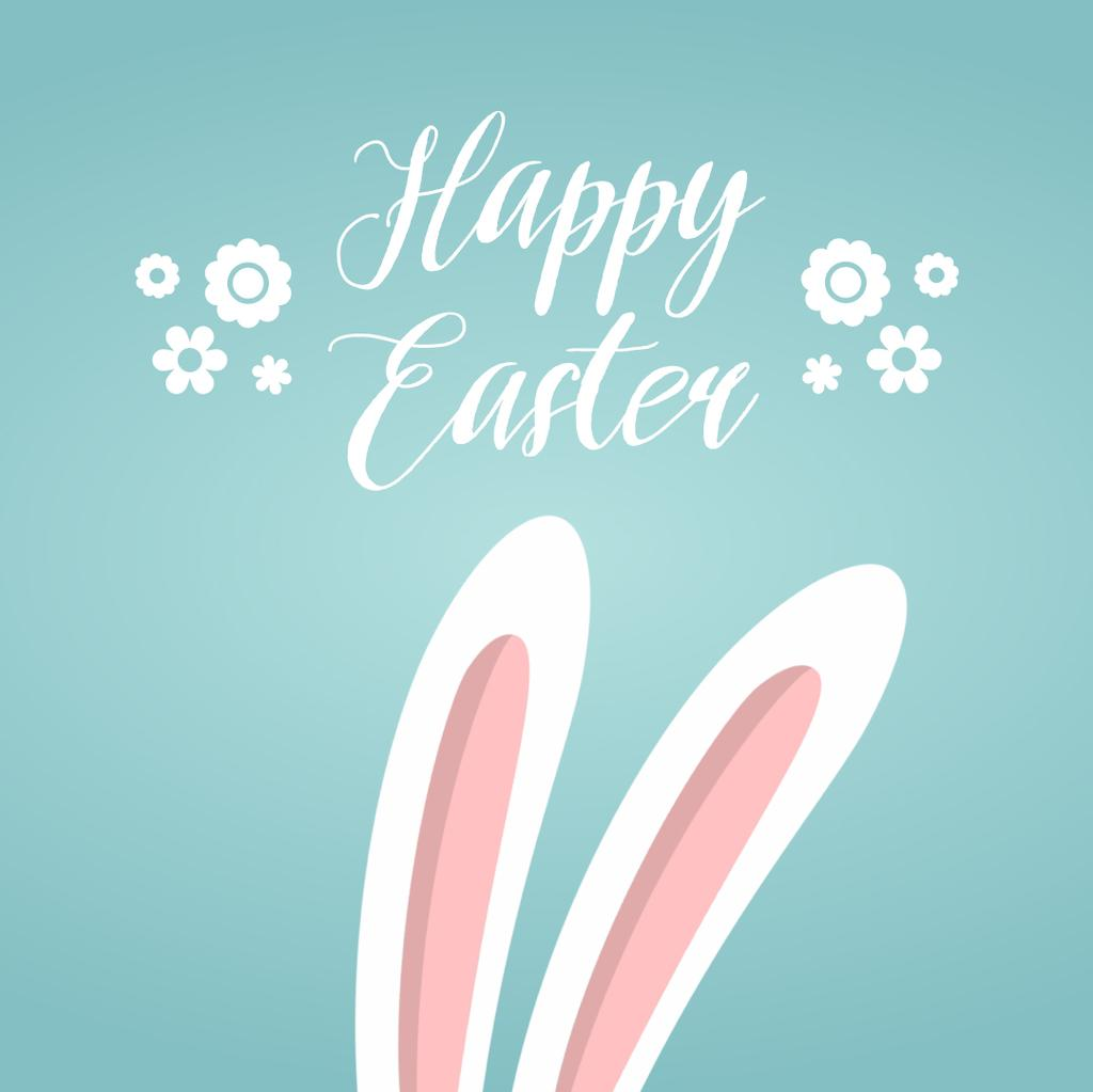 Cute bunny ears for Easter greeting — Create a Design