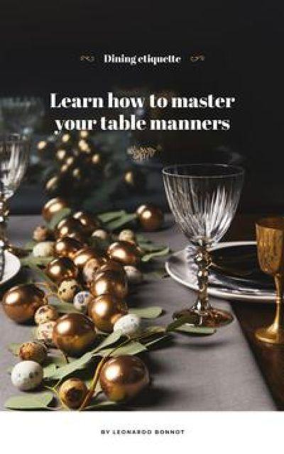 Plantilla de diseño de Festive formal dinner table setting Book Cover