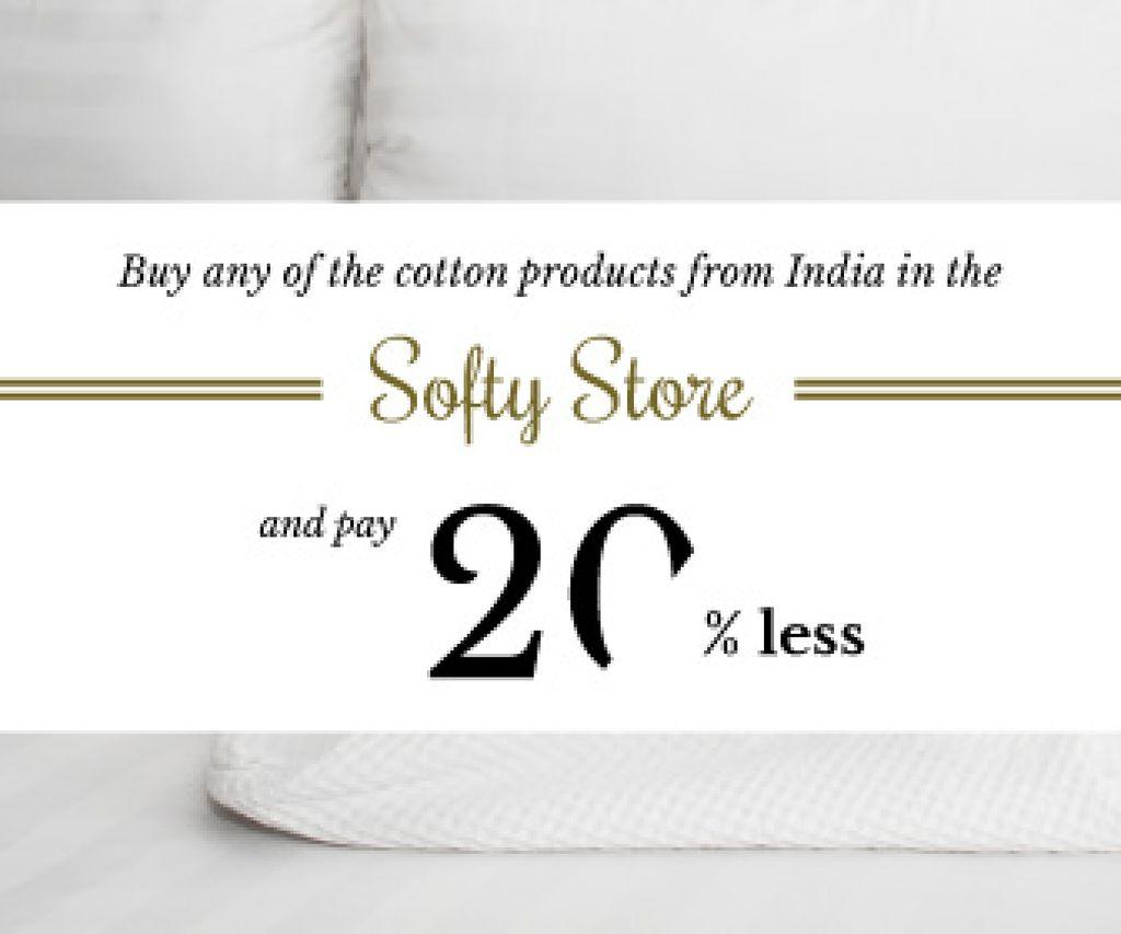 Cotton products sale advertisement — Modelo de projeto