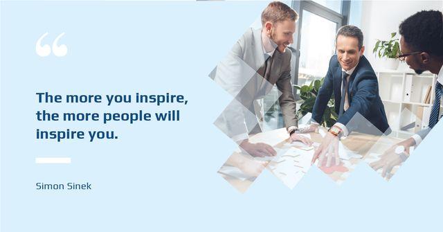 Ontwerpsjabloon van Facebook AD van Business Quote Colleagues Working in Office